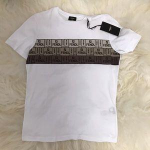 NWT Fendi Men T-Shirt Fendi Logo